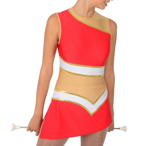 Tenue Twirling lycra rouge Eos
