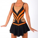 Justaucorps de twirling Diamond Lycra avec Jupette Destockage