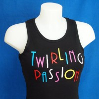 "Tee Shirt Débardeur noir ""Twirling Passion"""