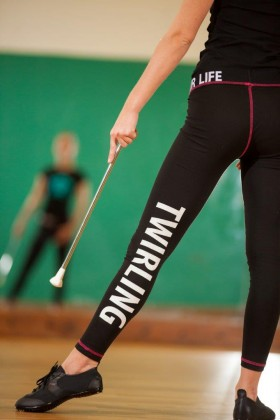 "Leggings noir - ""Twirl Your Life"""