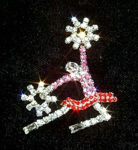 "Broche""Pompom girl""en strass"