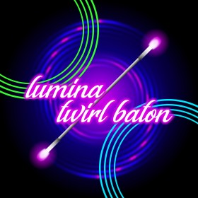 LuminaTwirl - Bâton de twirling à LED
