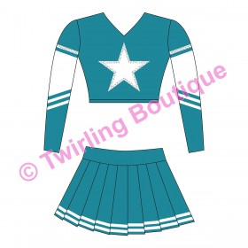 Tenue Cheerleader Personnalisable I2