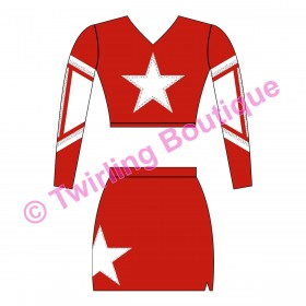 Tenue Cheerleader Personnalisable P3