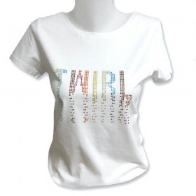 Tee shirt Twirl en strass multicolores