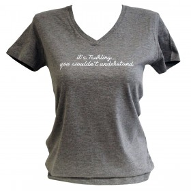 Tee shirt avec message Twirling