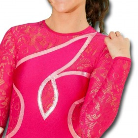 Justaucorps de twirling CASSIOPEE dentelle