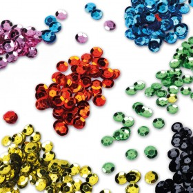 Paillettes laser cuvettes 8MM (le sachet de 95gr-7000 à7500 paillettes) - 20 coloris possibles !