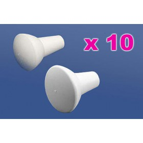Lot  de 10 paires d' embouts pour Baton ABC Major 11mm